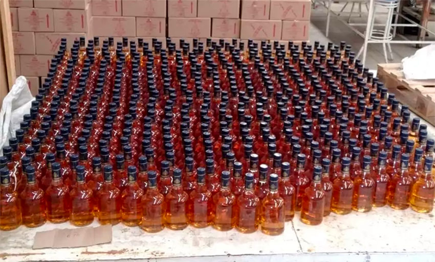 Police seized 7,000 bottles of whiskey in Morelos this week.