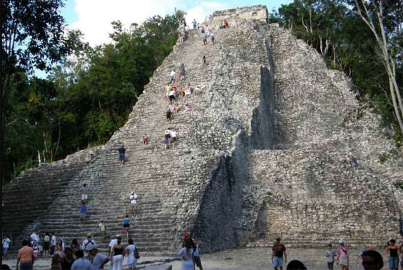 A pyramid at Cobá, which is expected to benefit from the addition of a Maya Train station at El Tintal.