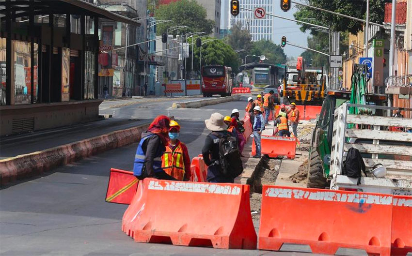 Construction workers were allowed to return to work June 1 in Mexico City.