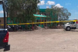 Crime scene Tuesday in San Luis de la Paz.