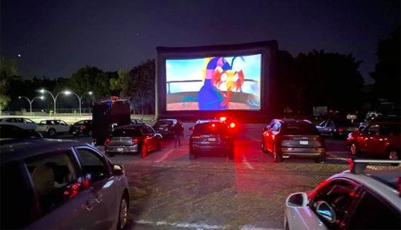 The Cinemex drive-in at Plaza Patria in Guadalajara.