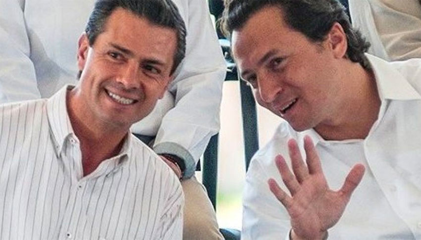 Peña Nieto, left, and Lozoya