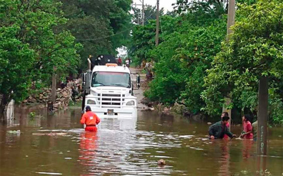 Flooding caused by Cristóbal in southeastern Mexico this week.
