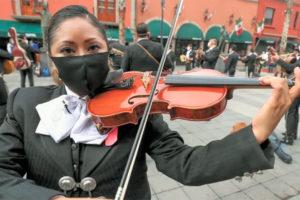 One of 200 mariachis in Plaza Garibaldi on Sunday.