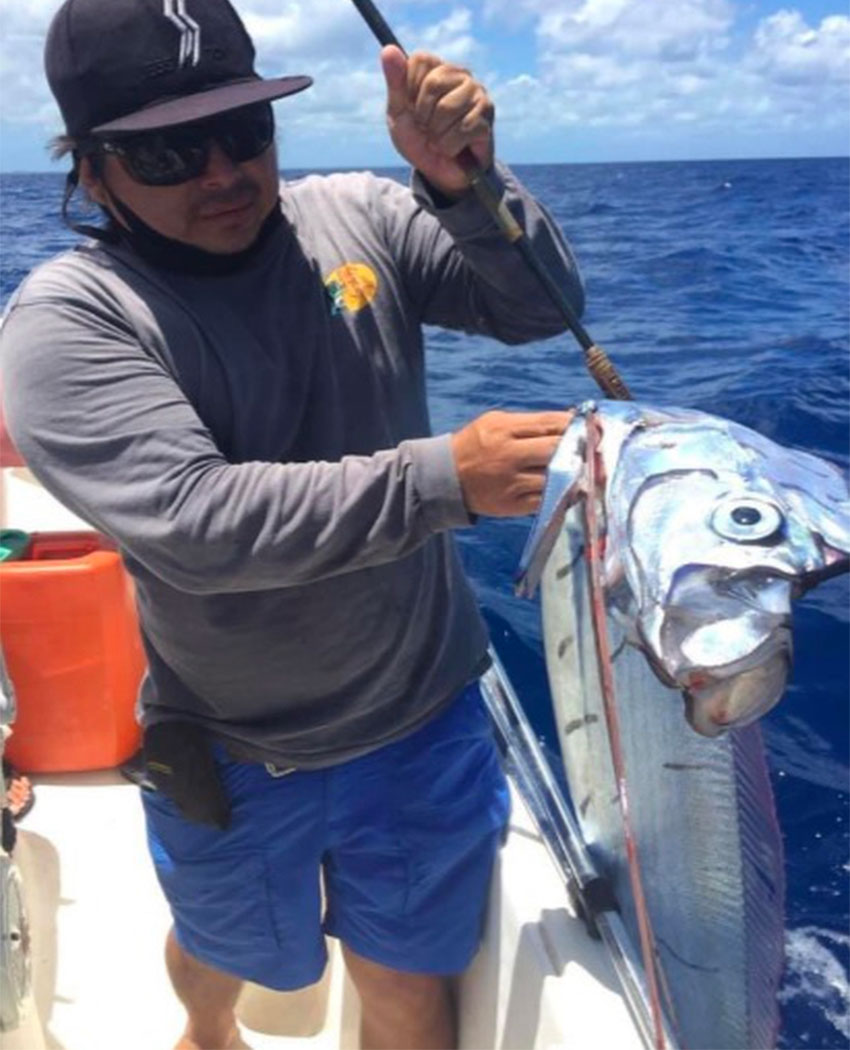 The Cozumel oarfish gaffed by a fisherman this week.