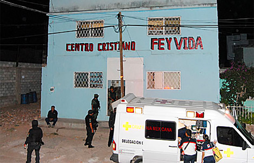 Nineteen residents were killed in an attack on this Chihuahua rehab center in 2010.