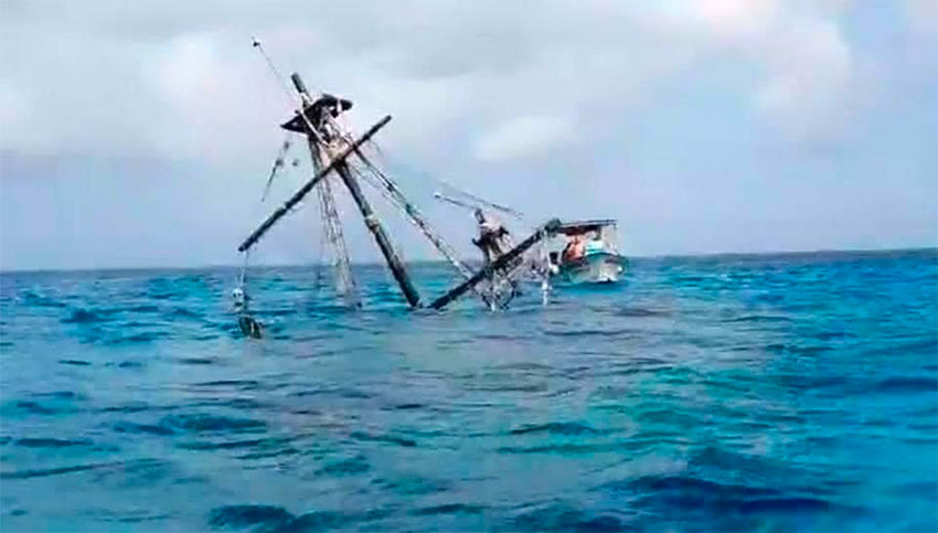 The Cozumel 'pirate ship' that was popular for its dinner cruises.