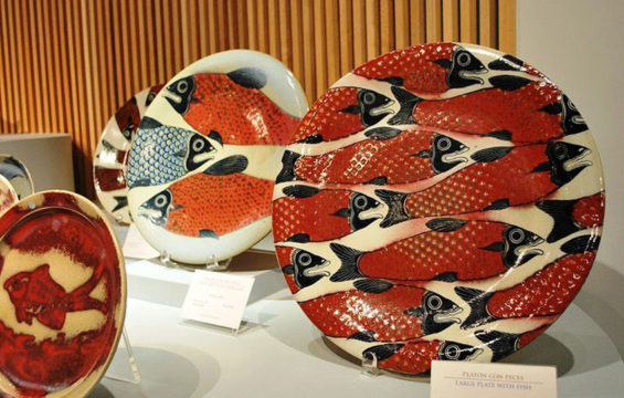 Plates by artisan Jorge Wilmot, who had a lasting influence on ceramics in Jalisco.