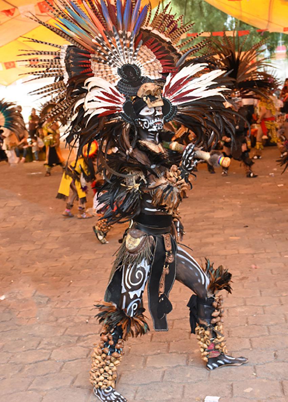 Aztec dancers a popular feature of major holidays.
