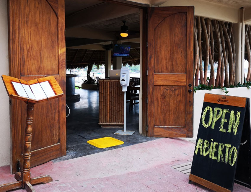 Don Pedro's Restaurant in Sayulita is operating at 50% capacity, but it's in the minority.