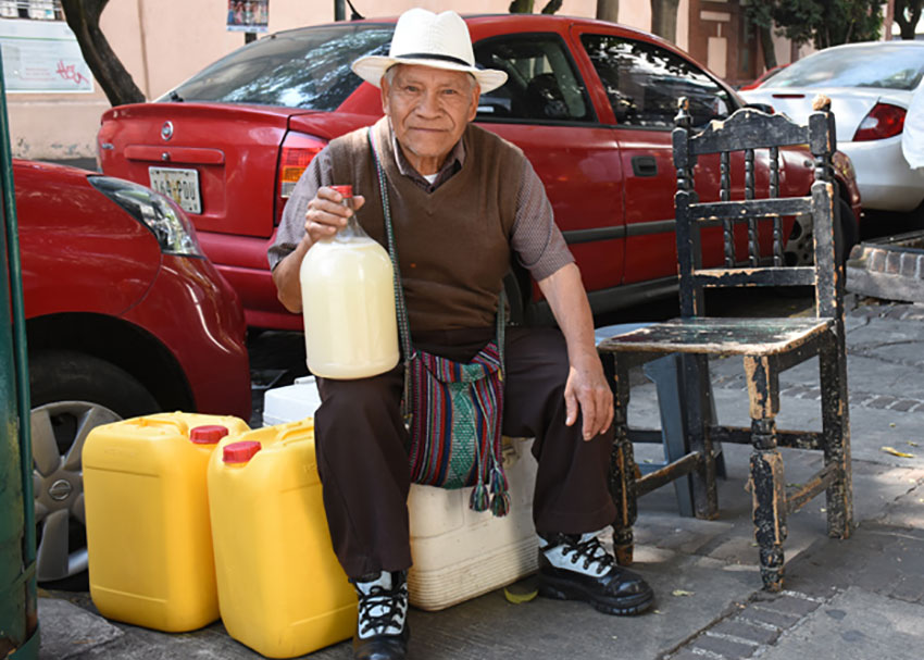 Pulque vendor Patricio González