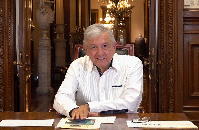 López Obrador says pandemic is on the wane.