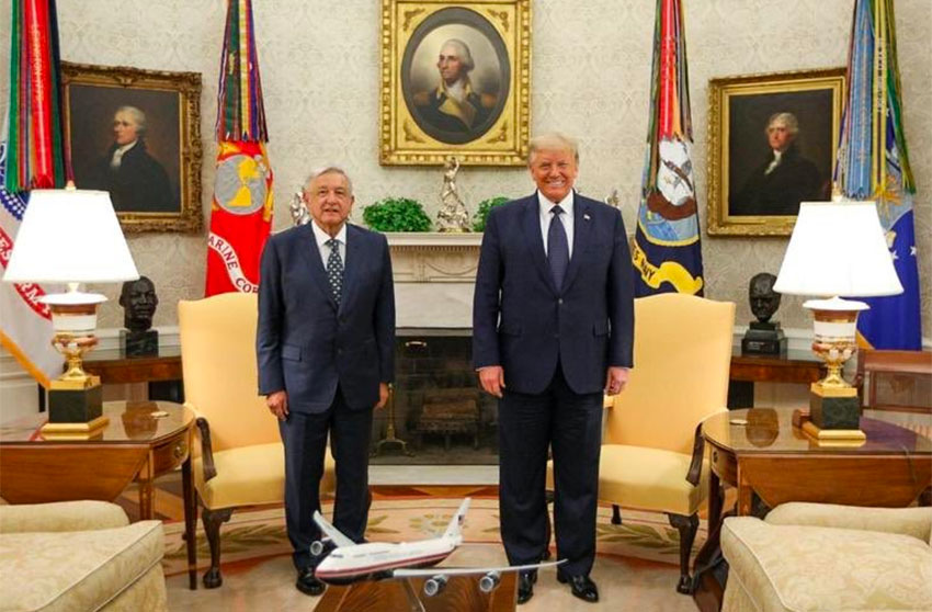 The two presidents in the Oval Office on Wednesday.