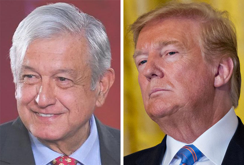 López Obrador and Trump: it's unclear what the former will gain with this week's meeting.