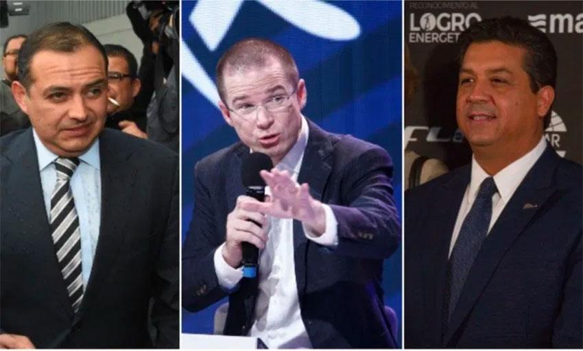 National Action Party politicians Cordero, Anaya and Cabeza de Vaca deny receiving bribes from the Peña Nieto government.