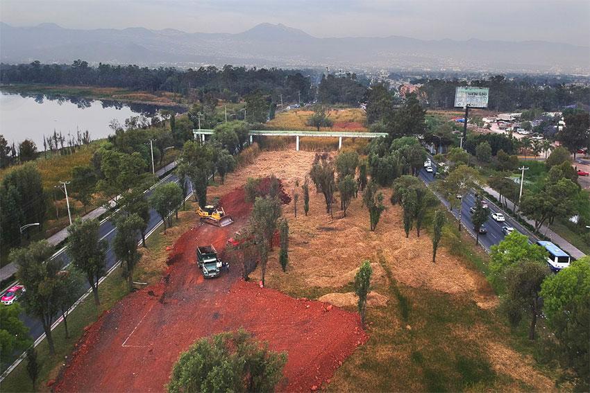 Site of the controversial bridge in Xochimilco
