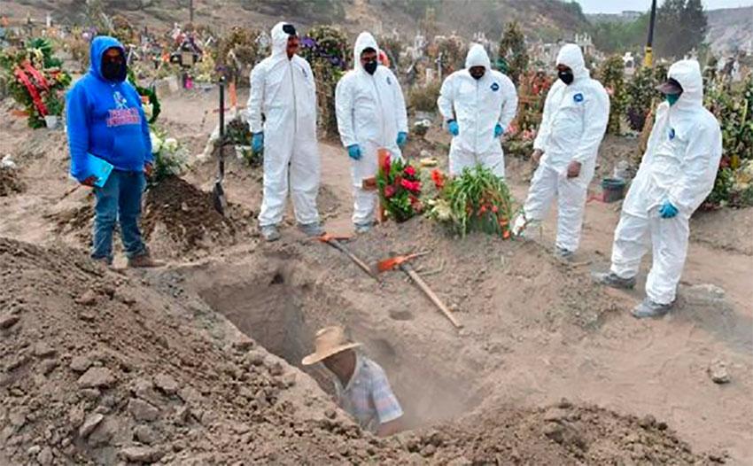 A coronavirus burial.