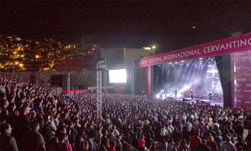 Attendance at the Cervantino was 414,000 last year.