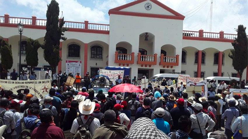 March Against the Invention of the Coronavirus in Tuxtla Gutiérrez.