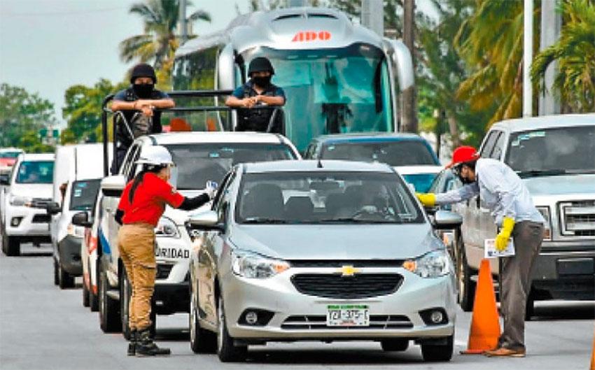 Highway health checks are conducted in Veracruz.
