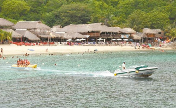 La Entrega Beach in Huatulco, which has seen few virus cases compared with other destinations.