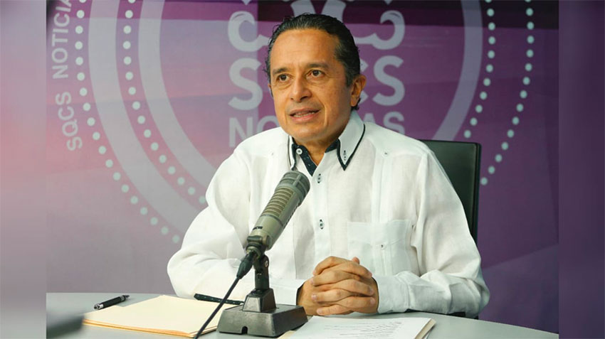 Quintana Roo Governor Joaquín: state has its own stoplight system.