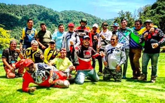 The group of men who traveled via all-terrain vehicles from Guanajuato to Puerto Vallarta.