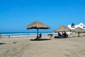 Las Glorias beach on a quiet day.