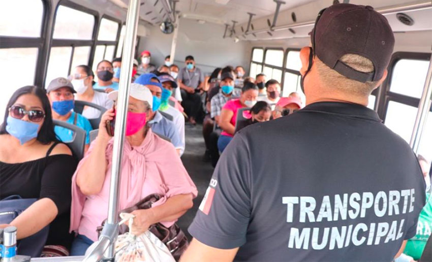 Free masks will be distributed, particularly at bus stops to encourage their use by transit passengers.