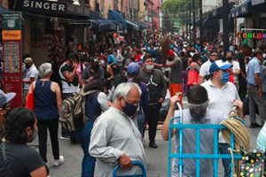 Downtown Mexico City was bustling on Tuesday.