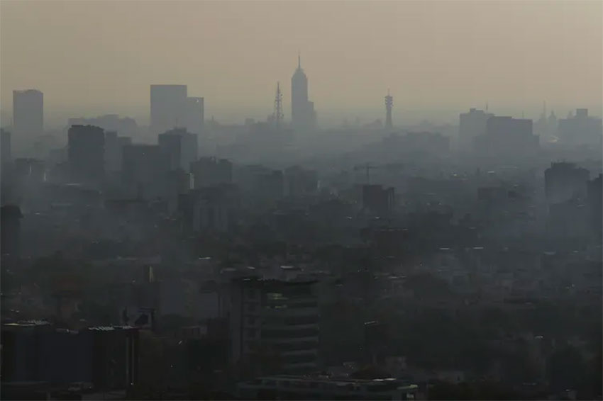 Situated on a plateau and surrounded by mountains, Mexico City is a bowl that traps smog and dust.