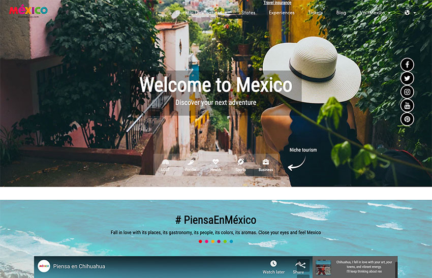 The Visit Mexico website is seen as an important achievement.