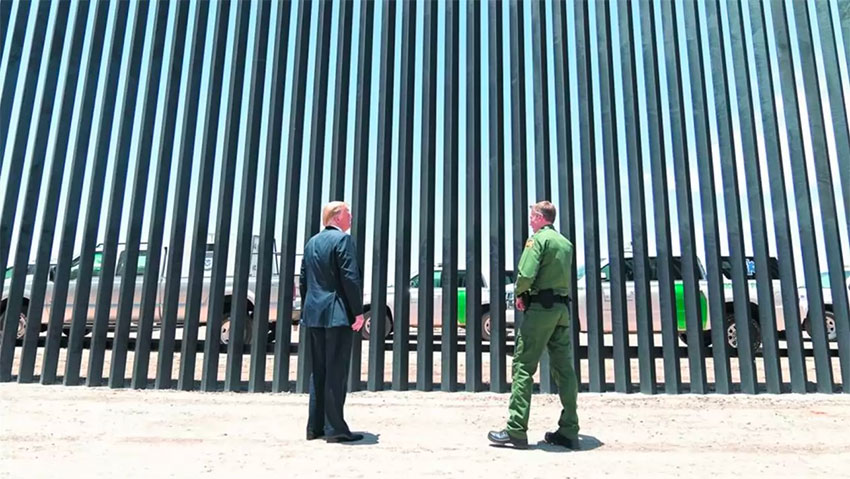 Trump tweeted a photo on Monday of his visit two weeks ago to the border wall, raising speculation that the topic would come up at his meeting with Mexico's president.