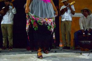 A dancer zapateando in Veracruz. It's not the same online.