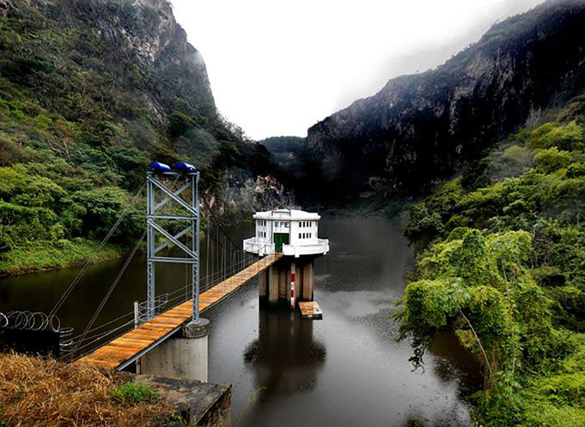 The Colimilla Dam, which began to produce electricity in 1950.