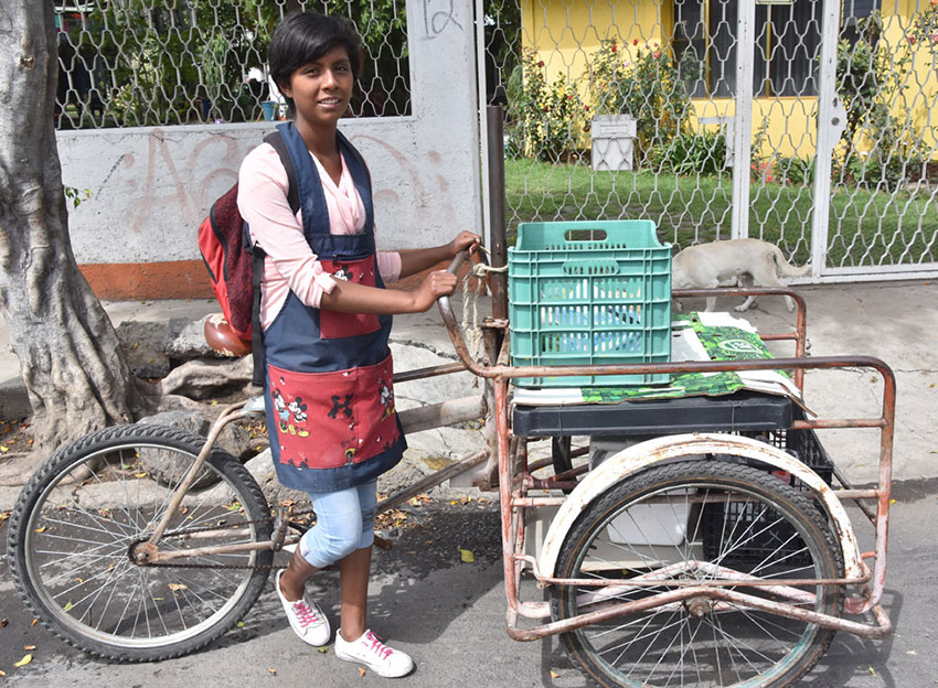 Berenice Muñoz found a new opportunity delivering vegetables