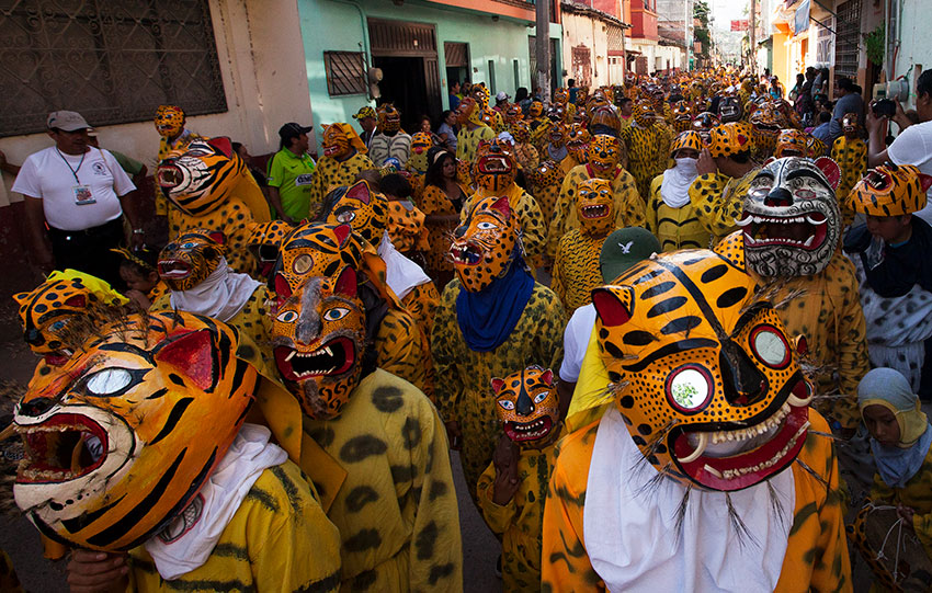 La Tigrada, a jaguar festival held annually in Chilapa, Guerrero.