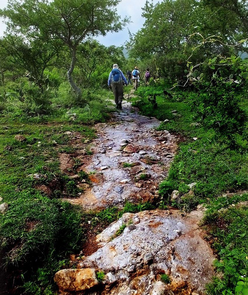 """Natural"" rock-outcrop trail takes you up Cerro Viejo."