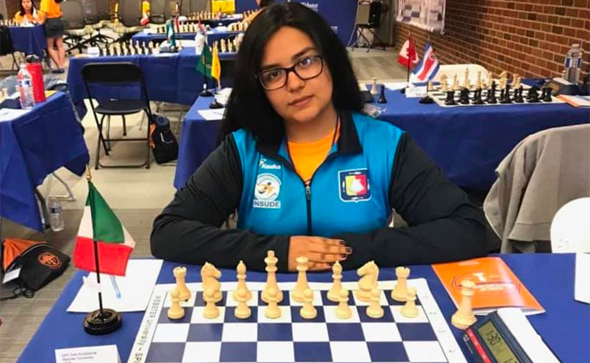 International chess champion Ayleen Maribel Ramírez.