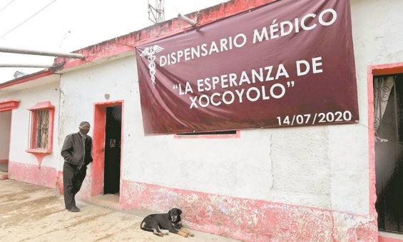 The new community-funded clinic in Xocoloyo.