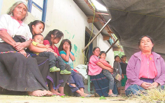 Refugees from the conflict in Chiapas.