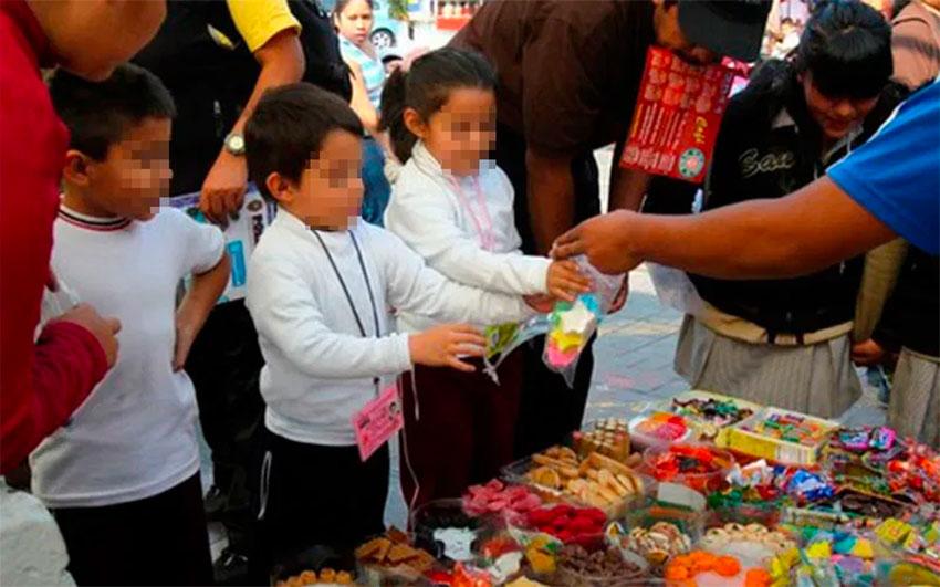 kids buying junk food
