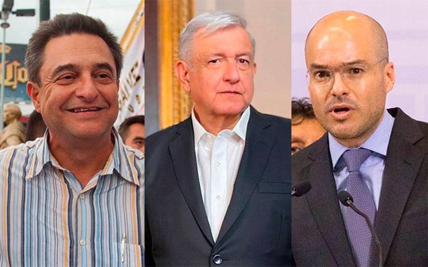 The López Obrador brothers and David León.