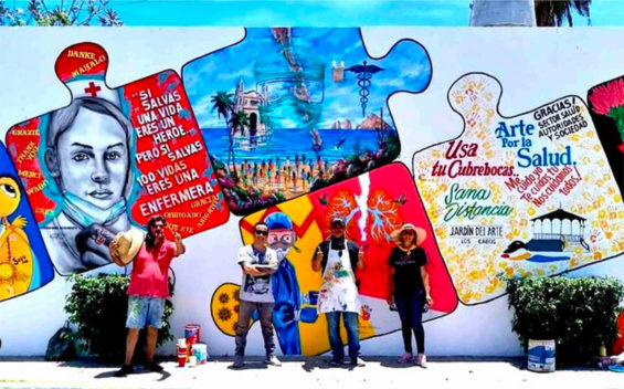 Artists' San José mural is dedicated to healthcare workers.
