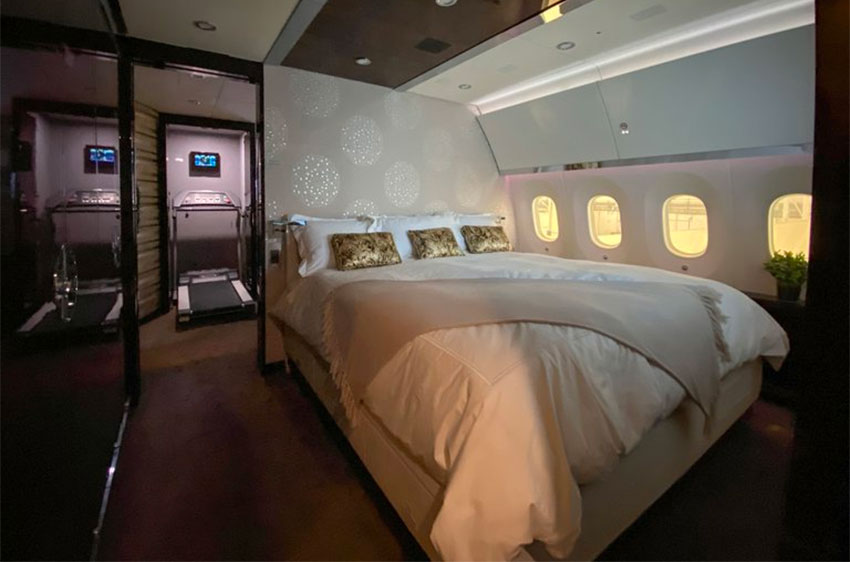 The presidential bedroom suite on the Dreamliner 787.