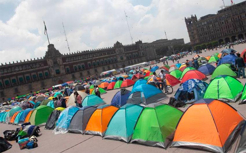 Unhappy campers: teachers union demands jobs for graduates.