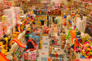 Toy industry sees a 50% slump in sales.