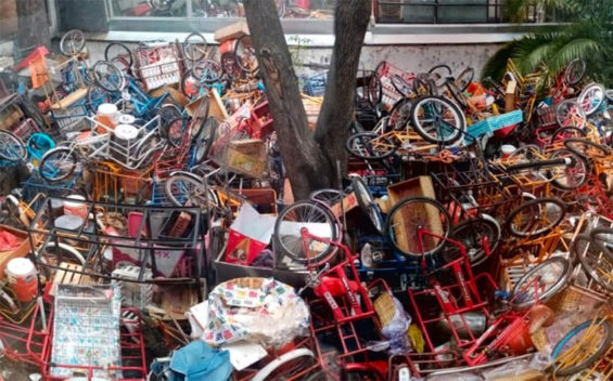 The confiscated tricycles in Miguel Hidalgo.