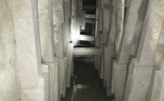 The tunnel discovered by soldiers in Matamoros.
