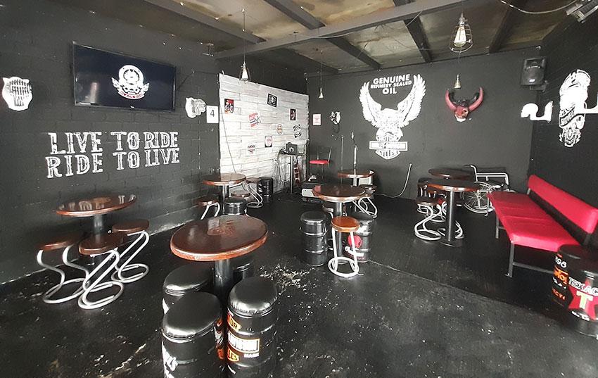 The biker-themed Black Dog House in Querétaro.
